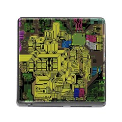 Technology Circuit Board Memory Card Reader (square)