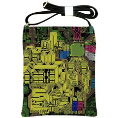 Technology Circuit Board Shoulder Sling Bags
