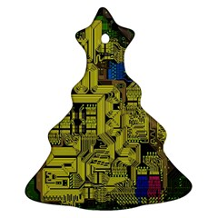 Technology Circuit Board Ornament (christmas Tree)