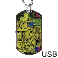 Technology Circuit Board Dog Tag Usb Flash (two Sides)