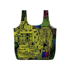 Technology Circuit Board Full Print Recycle Bags (s)