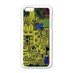 Technology Circuit Board Apple Iphone 6/6s White Enamel Case