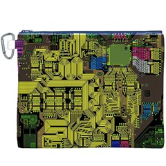 Technology Circuit Board Canvas Cosmetic Bag (xxxl)