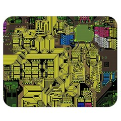 Technology Circuit Board Double Sided Flano Blanket (medium)