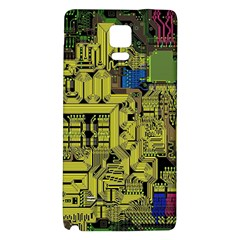 Technology Circuit Board Galaxy Note 4 Back Case