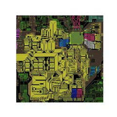 Technology Circuit Board Small Satin Scarf (square)