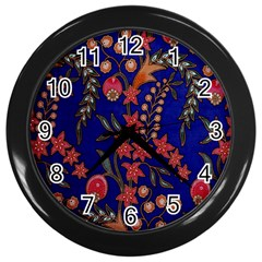 Texture Batik Fabric Wall Clocks (black)