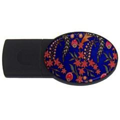 Texture Batik Fabric Usb Flash Drive Oval (4 Gb)