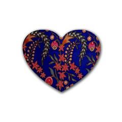 Texture Batik Fabric Heart Coaster (4 Pack)