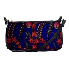 Texture Batik Fabric Shoulder Clutch Bags