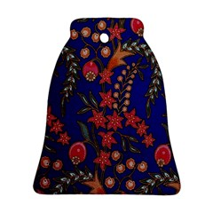 Texture Batik Fabric Bell Ornament (two Sides)