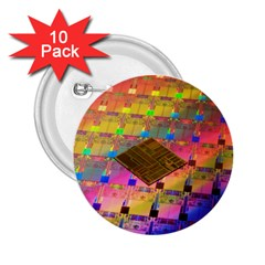 Technology Circuit Pentium Die 2 25  Buttons (10 Pack)