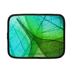 Sunlight Filtering Through Transparent Leaves Green Blue Netbook Case (small)