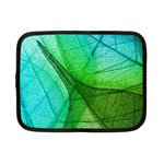 Sunlight Filtering Through Transparent Leaves Green Blue Netbook Case (Small)  Front