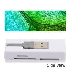 Sunlight Filtering Through Transparent Leaves Green Blue Memory Card Reader (stick)