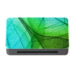 Sunlight Filtering Through Transparent Leaves Green Blue Memory Card Reader With Cf
