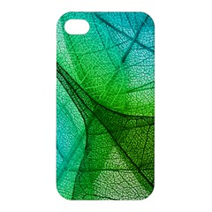 Sunlight Filtering Through Transparent Leaves Green Blue Apple Iphone 4/4s Hardshell Case