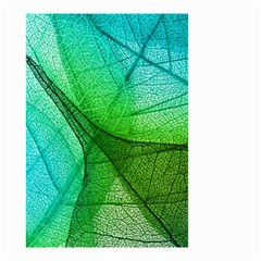 Sunlight Filtering Through Transparent Leaves Green Blue Small Garden Flag (two Sides)