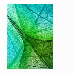 Sunlight Filtering Through Transparent Leaves Green Blue Large Garden Flag (two Sides)