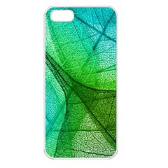Sunlight Filtering Through Transparent Leaves Green Blue Apple Iphone 5 Seamless Case (white)