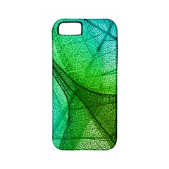 Sunlight Filtering Through Transparent Leaves Green Blue Apple Iphone 5 Classic Hardshell Case (pc+silicone)