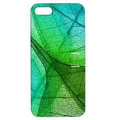 Sunlight Filtering Through Transparent Leaves Green Blue Apple Iphone 5 Hardshell Case With Stand