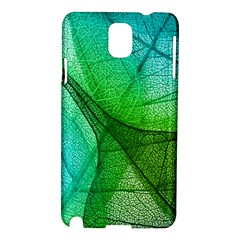 Sunlight Filtering Through Transparent Leaves Green Blue Samsung Galaxy Note 3 N9005 Hardshell Case