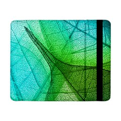 Sunlight Filtering Through Transparent Leaves Green Blue Samsung Galaxy Tab Pro 8 4  Flip Case