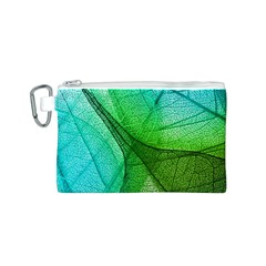 Sunlight Filtering Through Transparent Leaves Green Blue Canvas Cosmetic Bag (s)