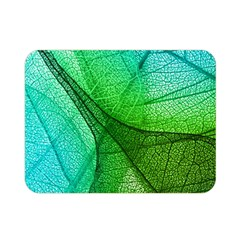 Sunlight Filtering Through Transparent Leaves Green Blue Double Sided Flano Blanket (mini)