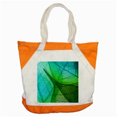 Sunlight Filtering Through Transparent Leaves Green Blue Accent Tote Bag