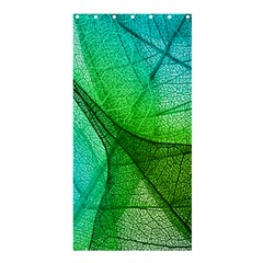 Sunlight Filtering Through Transparent Leaves Green Blue Shower Curtain 36  X 72  (stall)