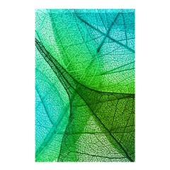 Sunlight Filtering Through Transparent Leaves Green Blue Shower Curtain 48  X 72  (small)