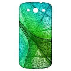 Sunlight Filtering Through Transparent Leaves Green Blue Samsung Galaxy S3 S Iii Classic Hardshell Back Case