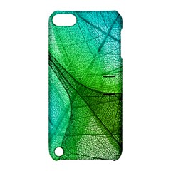 Sunlight Filtering Through Transparent Leaves Green Blue Apple Ipod Touch 5 Hardshell Case With Stand