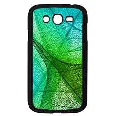 Sunlight Filtering Through Transparent Leaves Green Blue Samsung Galaxy Grand Duos I9082 Case (black)