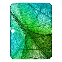 Sunlight Filtering Through Transparent Leaves Green Blue Samsung Galaxy Tab 3 (10 1 ) P5200 Hardshell Case