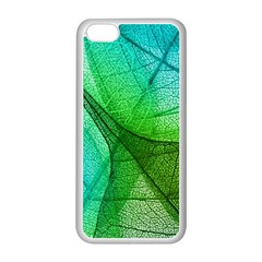 Sunlight Filtering Through Transparent Leaves Green Blue Apple Iphone 5c Seamless Case (white)