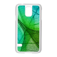Sunlight Filtering Through Transparent Leaves Green Blue Samsung Galaxy S5 Case (white)