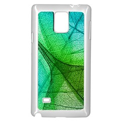 Sunlight Filtering Through Transparent Leaves Green Blue Samsung Galaxy Note 4 Case (white)