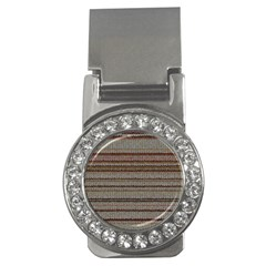 Stripy Knitted Wool Fabric Texture Money Clips (cz)
