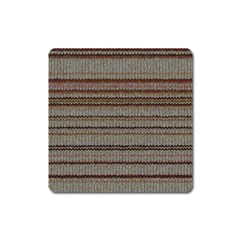 Stripy Knitted Wool Fabric Texture Square Magnet