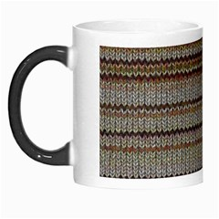 Stripy Knitted Wool Fabric Texture Morph Mugs
