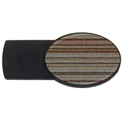 Stripy Knitted Wool Fabric Texture Usb Flash Drive Oval (4 Gb)