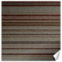 Stripy Knitted Wool Fabric Texture Canvas 20  X 20