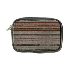 Stripy Knitted Wool Fabric Texture Coin Purse