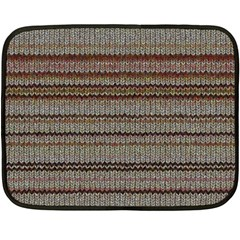 Stripy Knitted Wool Fabric Texture Double Sided Fleece Blanket (mini)