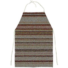 Stripy Knitted Wool Fabric Texture Full Print Aprons