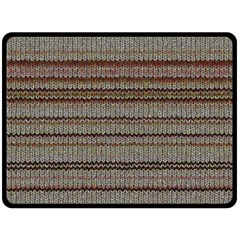 Stripy Knitted Wool Fabric Texture Fleece Blanket (large)