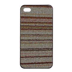Stripy Knitted Wool Fabric Texture Apple Iphone 4/4s Seamless Case (black)